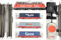 German train model set BR189 locomotive: Container Car * 3 +track +controller ho proportion children's toys