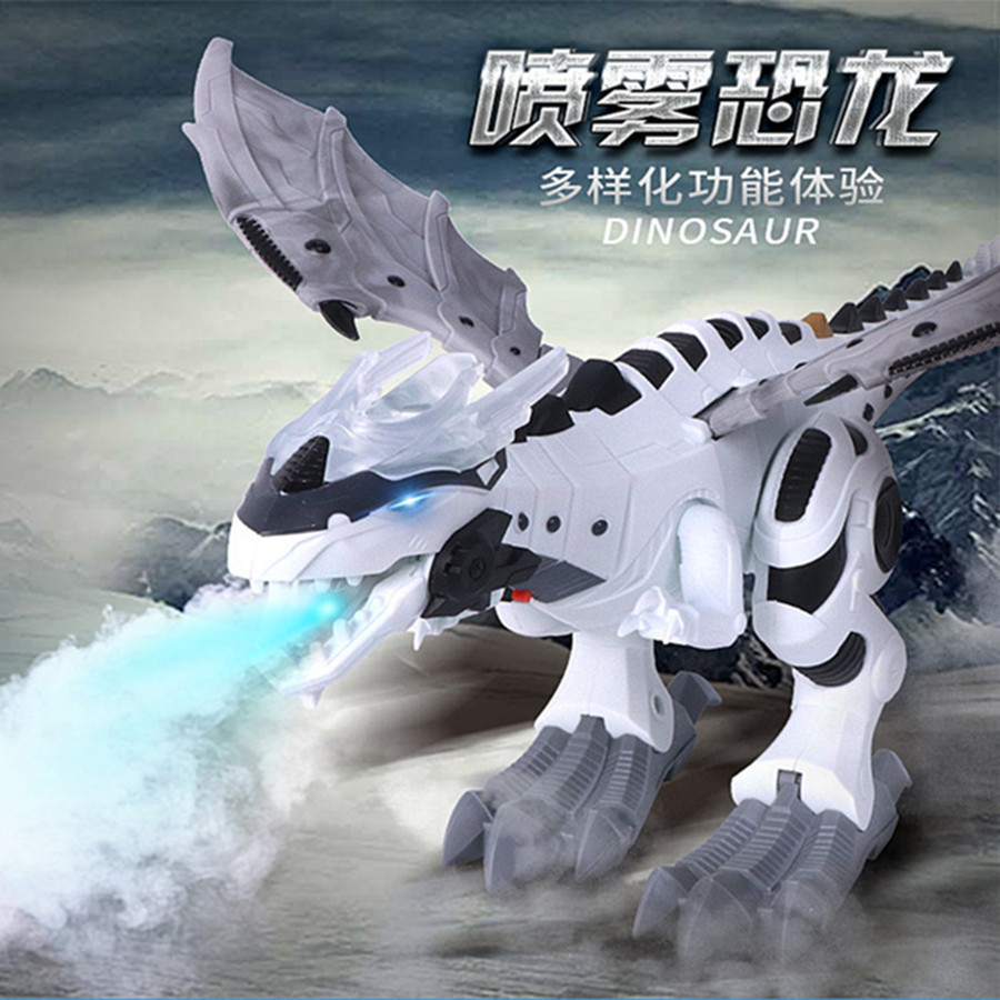 Rong Kai 6818 Machinery Spray Dinosaur Electric Light Spitfire Machinery War Dragon Simulated Dinosaur Models