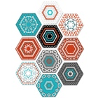 10Pcs Hexagon Morocc...