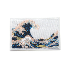 The Great Wave off Kanagawa patches diy iron on jeans bag shirt clothes jersey accessory punk sticker embroideried badge E0105