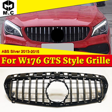 цены на For MercedesMB W176 Sport Front Grille Grill ABS Silver A-Class A180 A200 A250 A45 GT R Style Look Grills Without sign 2013-2015  в интернет-магазинах