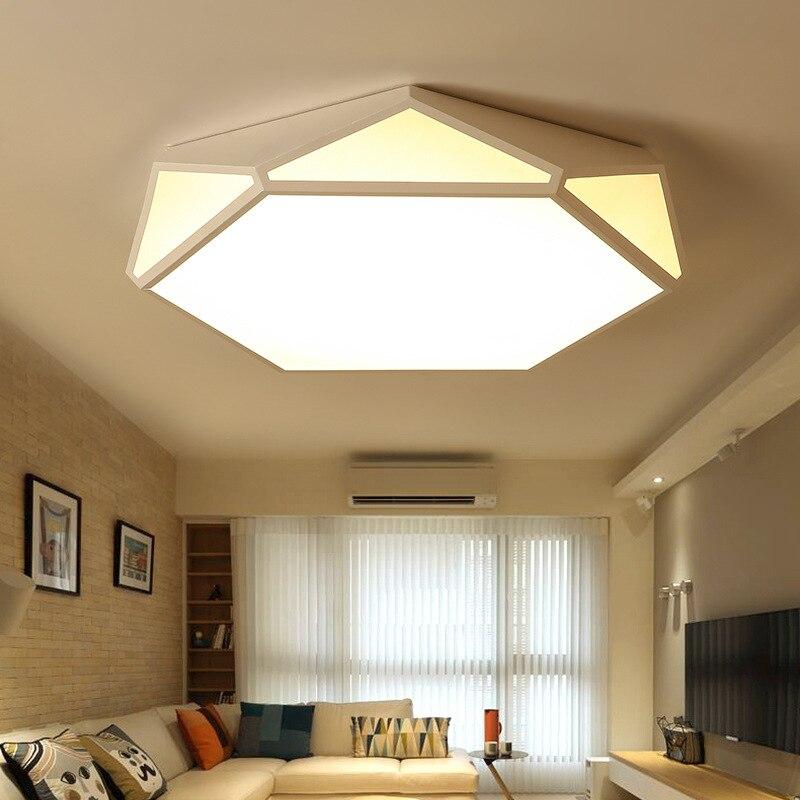 LED מנורת חדר שינה מודרני מינימליסטי מפואר בית סלון אורות Creative מגניב אמנות ספריית גיאומטריה תקרת מנורות