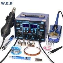 Wep 862bd + digital ajustável ferro de solda estação de solda de ar quente para diy 720w smd bga estação de retrabalho desoldering