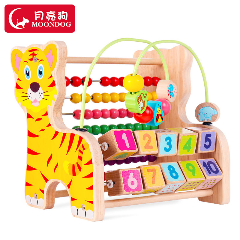 Bead-stringing Toy Treasure Chest A Year Of Age Baby 1-3 Children Women's Educational Toy Beaded Bracelet 0-2 Wooden Toys Semi-I