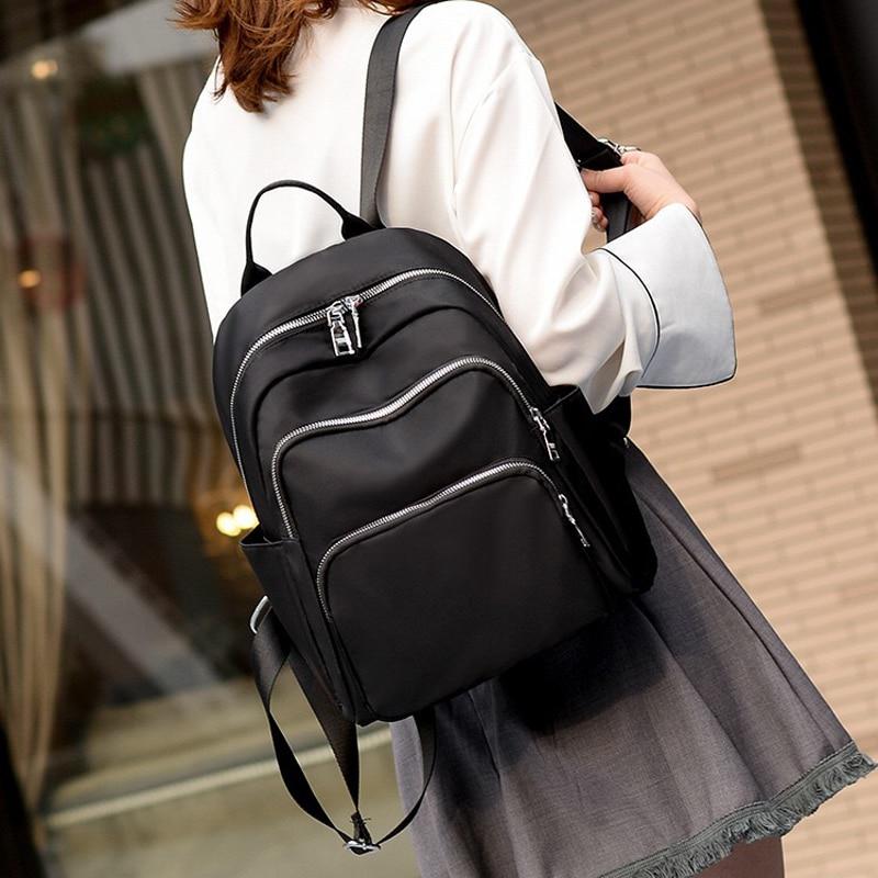 POMELOS Women Backpack Solid Black Travel Backpack For School Girls High Quality Oxford Light Backpack Bookbag Bagpack Women