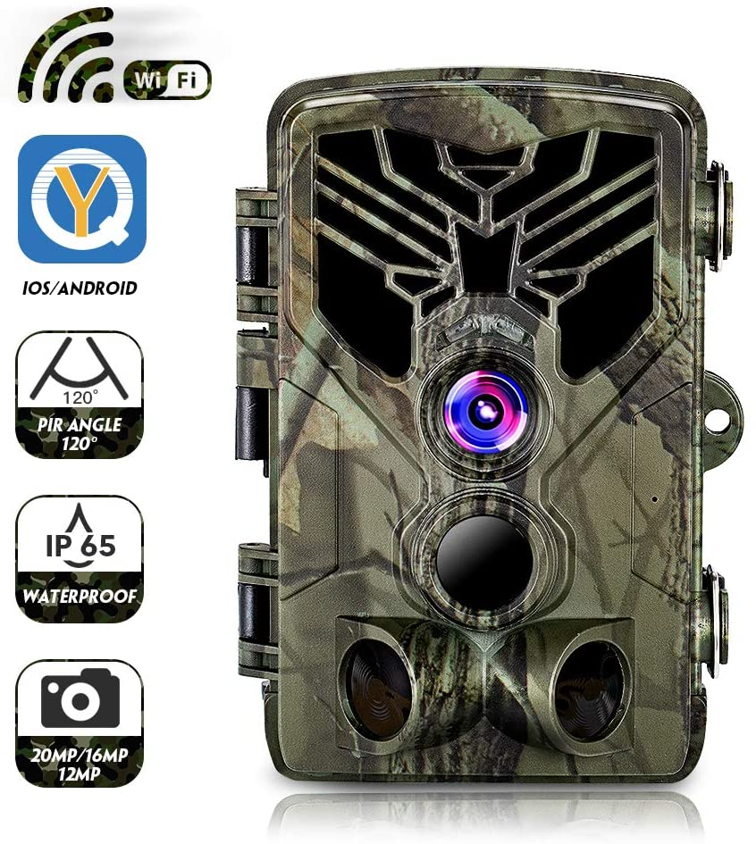 Wifi Wild Camera APP Remote Control IP65 Hunting Trail Camera 20MP 1080P Night Vision Wildlife Photo Traps Camera Hunter outdoor