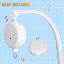 Baby Rattles Toys Rotary Baby Crib Bed Mobile Bell Toys Romote Control Music Box Crib Toys Holder Newbrons Baby Toys 0-12 Months baby crib holder rattles baby toys clockwork music box bed bell toy bear handmade mobile toys for children