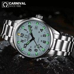 Karnawał T25 tryt zegarek świetlny mężczyźni wojskowe męskie zegarki Top marka luksusowy zegarek kwarcowy męski zegar Relogio Masculino w Zegarki mechaniczne od Zegarki na