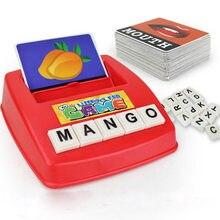 Jogo de correspondência letra ortografia leitura alfabeto inglês letras de madeira cartão jogo de correspondência crianças pré-escola aprendizagem língua brinquedos