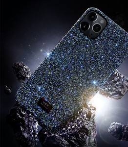 Image 4 - Blingbling بريق الماس الساطع الفاخرة للصدمات الغطاء الخلفي للآيفون X XS XS ماكس XR 12 11 برو ماكس 7 8 زائد funda فتاة
