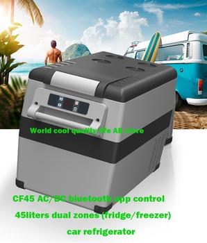 45L AC i DC12V24V kompresor Camping piknik odkryty RV lodówka samochodowa chłodnica zamrażarka Box przenośny Mini lodówka podróży domu tanie i dobre opinie world cool Rohs WEEE CN (pochodzenie) 17kg bluetooth app 13 58inch 20L CF45 CE GS ROHS ETL CB SAA 12 v +20C to -20C 18 2inch