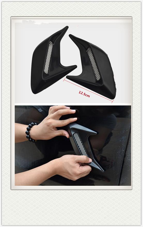 2pcs רכב אוטומטי צד Vent זרימת אוויר פנדר צריכת מדבקת רכב סימולציה צד פתחי אוורור דקורטיבי עבור פיאט רכב כל מודלים הם כללי