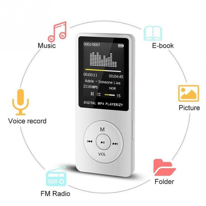 1.8inch With FM Radio Music Player MP3 Ebook Movie Fashion Digital HIFI Media Portable Ultra-thin