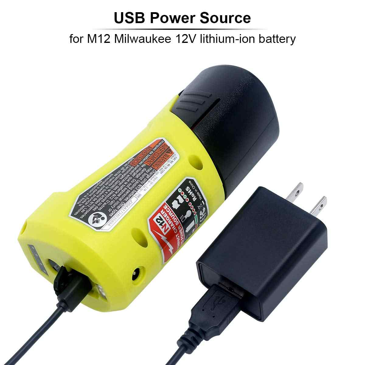 M12 Charger and Portable Power Source for 48-59-1201 Replacemenet Power Tool