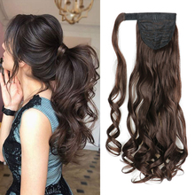 Hairpiece Ponytail Wrap-Around Clip-In LISIHAIR Synthetic Long for Women