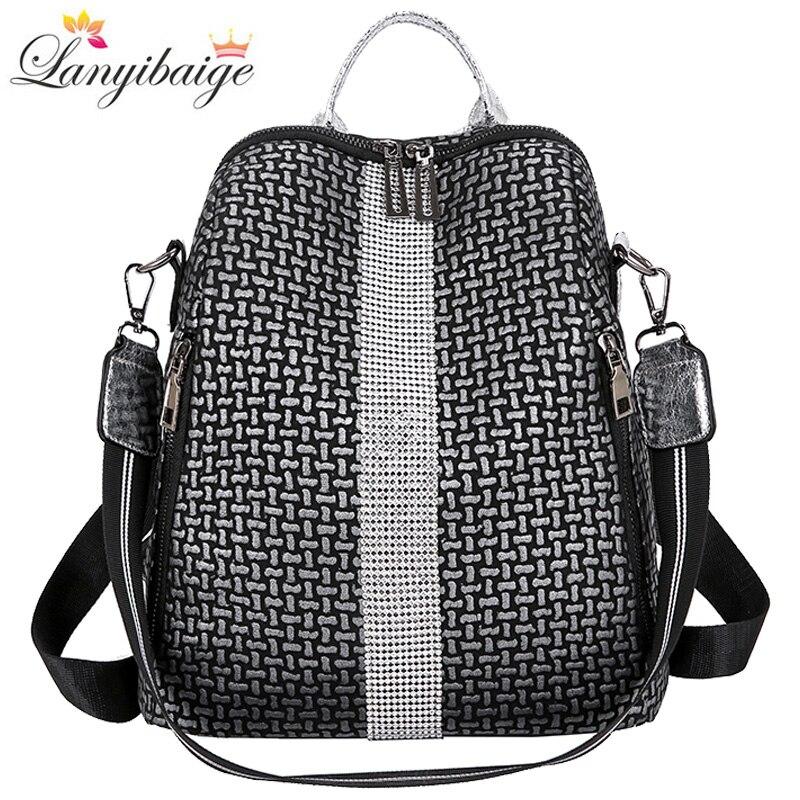 Multifunction Women Backpacks Shoulder Bags Fashion Summer Backpack Leather Women Backpacks Light Lady Large Capacity School Bag