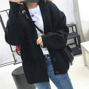 Image 5 - Fashion Ladies Sweaters Autumn 2020 Plus Size Casual Solid Color Cardigan Women Sweater Fashion Elegant Pocket Outerwear