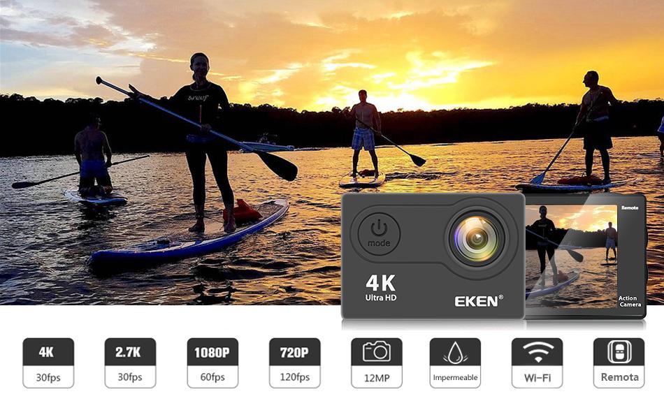 """EKEN H9R/H9 Ultra HD 4 K/30fps WiFi 2,0 """"170D impermeable bajo el agua 2"""