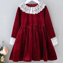 Новинка весенне осенние детские платья в стиле ретро детское