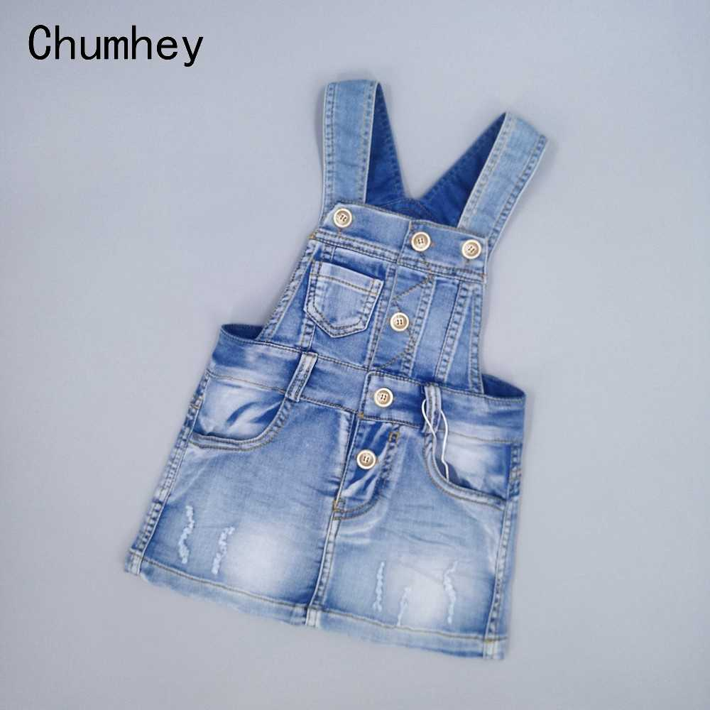 Chumhey Grade A Baby Girl Clothes Summer Sundress Toddler Suspender Denim Straps Overalls Bebes Clothing Kids Dresses For Girls