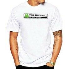 Camiseta 2021 t-shirt de algodão de filme impresso parágrafo homens de twin pines mall inspirado em voltar ao futuro