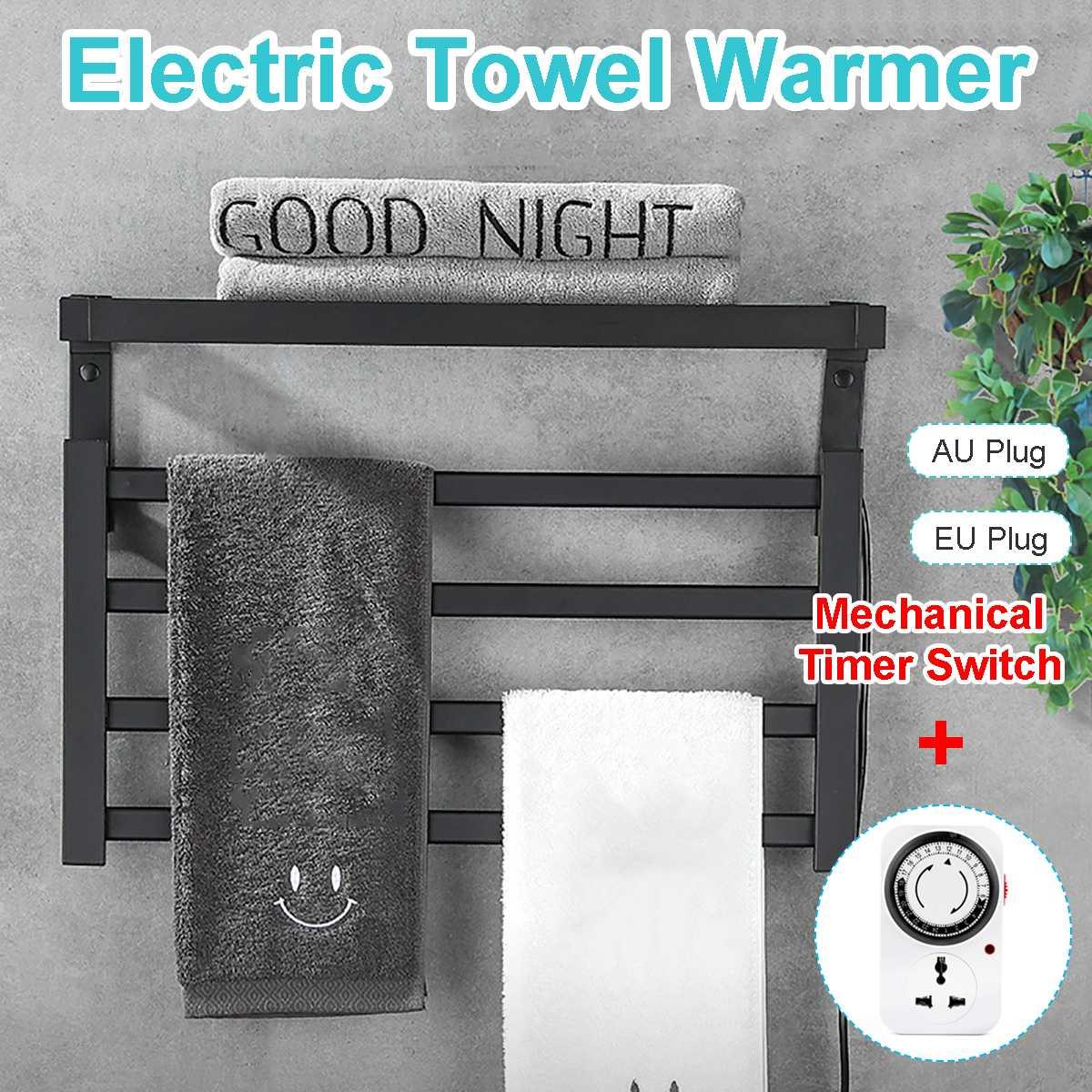 Stainless Steel Sterilizing Smart Towel Dryer With Au/eu Plug Loop Universal Timing Socket Mechanical Timer