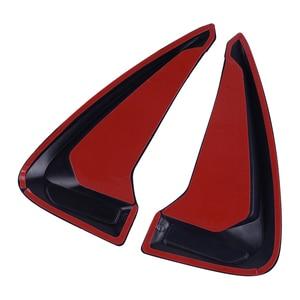 Image 3 - DWCX Đa Năng 1 Đen Xe Bên Thân Bút Lưu Lượng Không Khí Fender Cánh Lỗ Thông Hơi ABS Viền Tạo Kiểu Bao Da