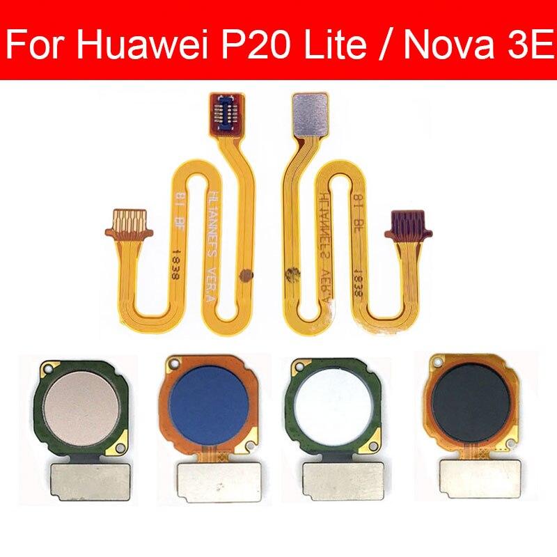 Fingerprint Sensor Scanner Connector For Huawei Nova 3E/ P20 Lite Home Button Key Touch ID Flex Cable Repair Spare Parts Test QC