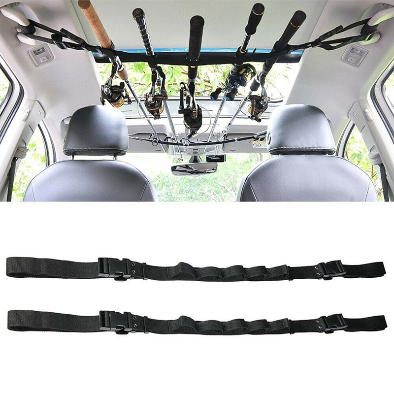 Fishing Rod Fixing Tool Portable Nylon Rod Holder Wear Resistant Car Fasten Organize Loop Fastener Design Strap With Tie