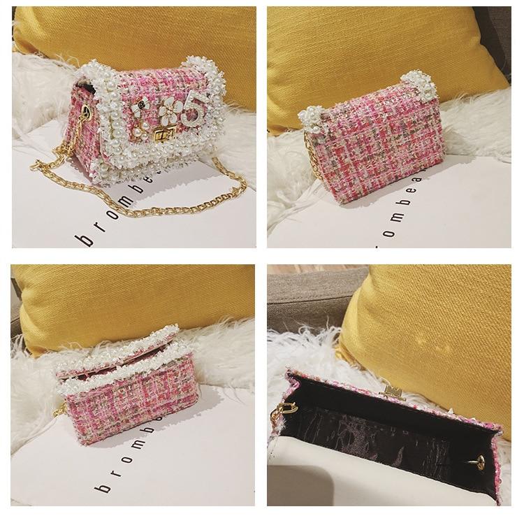 Image 5 -  グループ  上の 韓国スタイル子供のウールクロスかわいいキッドガールズプリンセス財布とハンドバッグベビーパールクラッチ財布