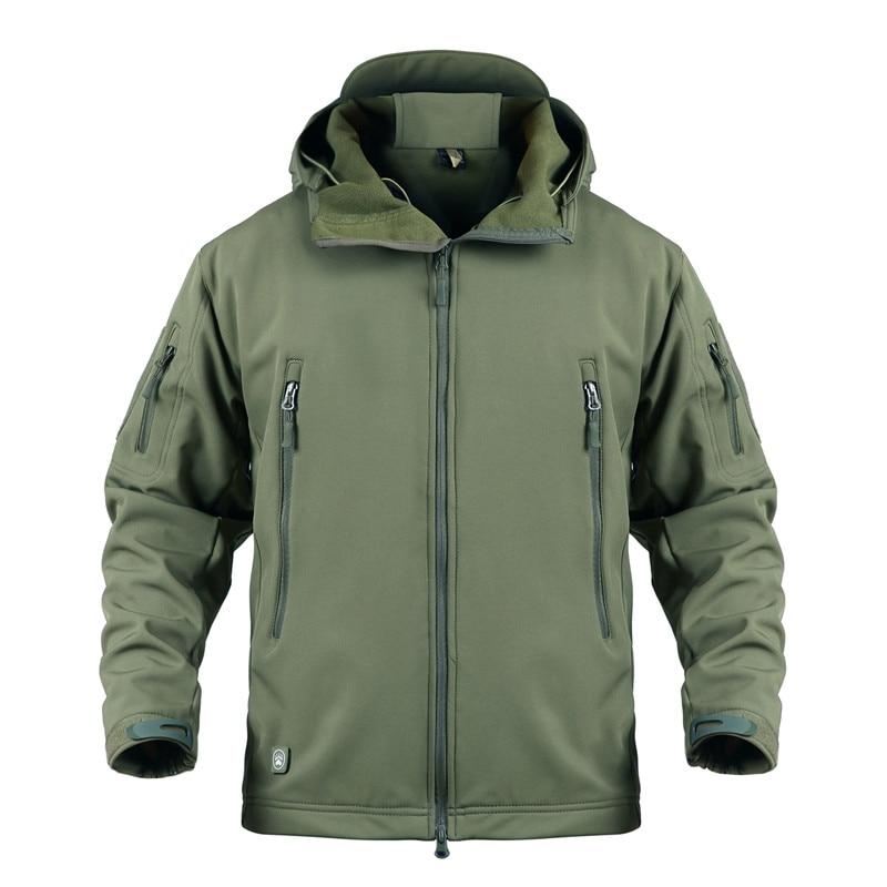 Уличная зимняя мужская Военная Тактическая охотничья куртка водонепроницаемая флисовая походная одежда для рыбалки походная куртка Военная армейская куртка