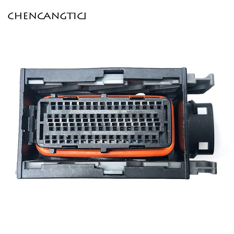 1 Set Pcs 64 Pin Way 0.6mm Female Automotive ECU Waterproof Plastic Electrical Wire Connector Plug For Cars PBT-GF15