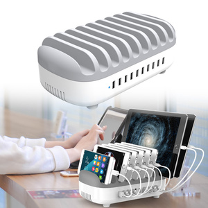 Image 1 - Station de recharge USB 5 ports charge rapide avec support chargeur USB 5/10 ports, adapté à toutes les montres intelligentes de bureau de téléphone