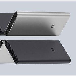 Image 3 - Xiaomi Mi 3 Pro 10000 mAh güç bankası İki yönlü hızlı şarj USB C çift giriş çıkış PLM12ZM 10000 mAh cep telefonu için Powerbank