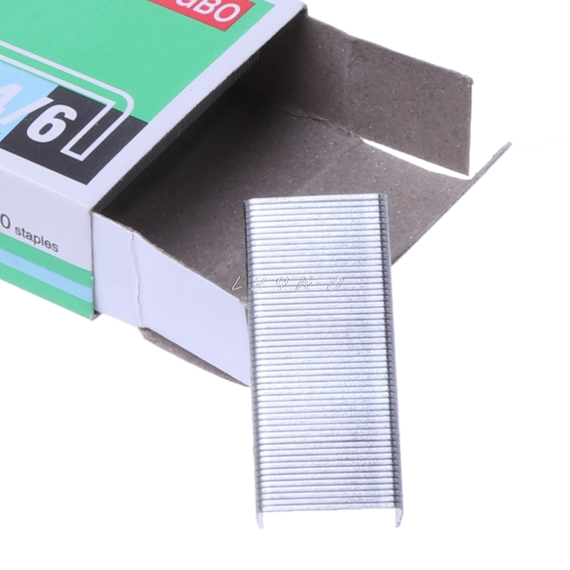 1000Pcs/Box Metal Staples No.12 24/6 Binding Stapler Office Binding Supplies School Stationary