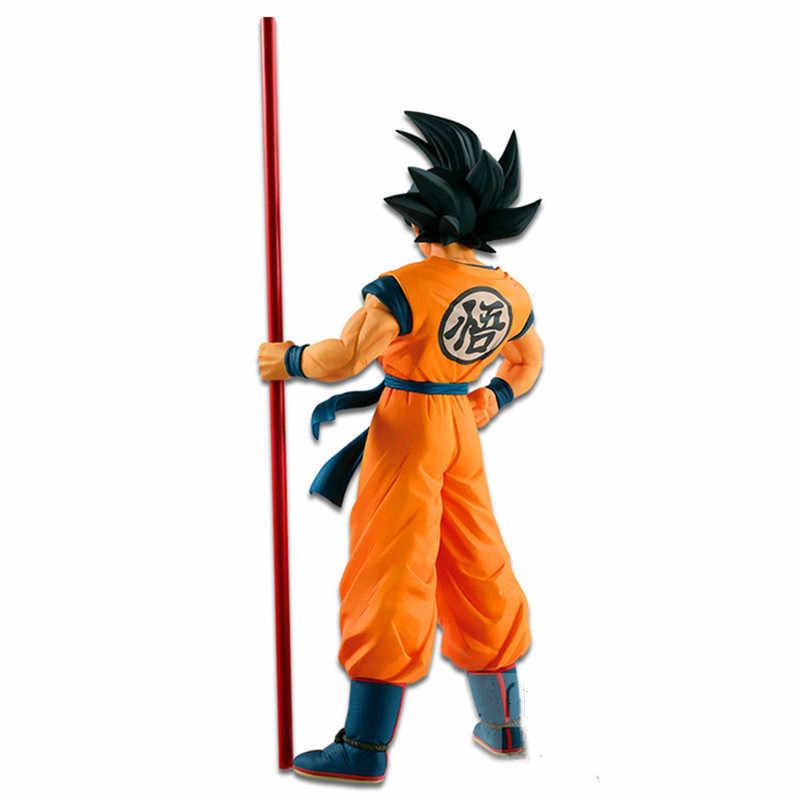 Dragon ball z son goku brinquedos de ação para crianças anime figurinha figura pvc modelo brinquedos cabelo preto goku 20th aniversário boneca