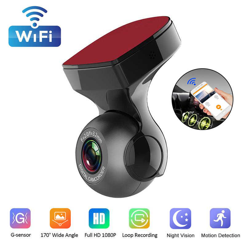 Two Version Wifi ADAS Car DVR Camera 1080P HD Night Vision Dash Cam 170 Degree Wide Angle USB Video Recorder Camera Auto Dashcam