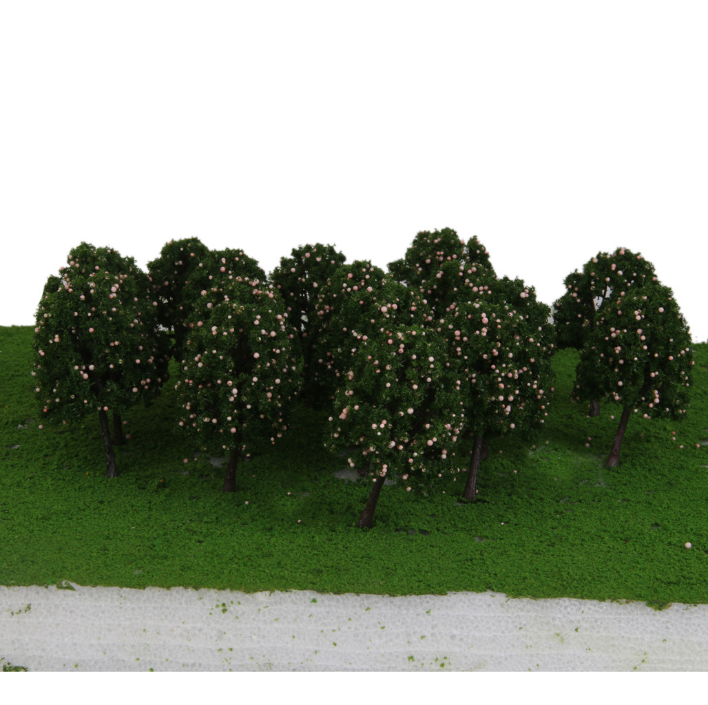 20x Model Pink Fruits Trees Train Railway Park Layout Scenery HO OO 9.5cm
