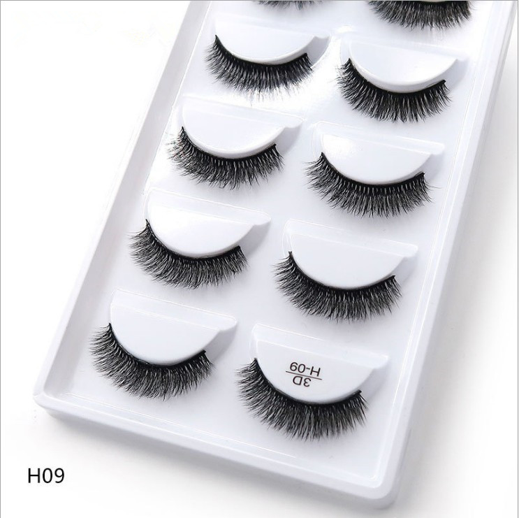 New 5 Pairs 17 Different Styles Of Mane False Eyelashes Natural / Thick Long Eyelashes Small Bundle Makeup Beauty Extension Tool