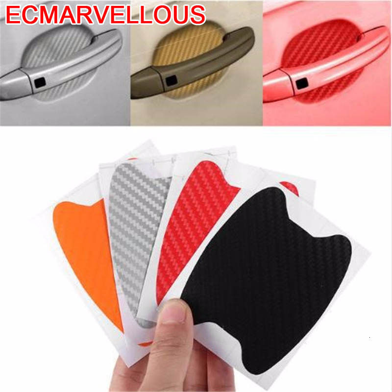 ECM#BAO Accessories Car Door Handle Protection Exterior Protective Film Auto Covers Car-styling Carbon Fiber Sticker