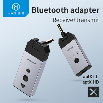 Hagibis Bluetooth 5.0 Audio Receiver Transmitter aptX LL HD 3.5mm Jack Aux Wireless Adapter for Car PC Headphone TV Speaker