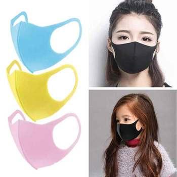 1-100Pcs Adult children's masks Repeatable washable non-marking sponge masks dustproof pollen-proof smog-proof spray-proof mask