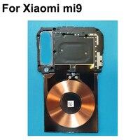 Xiao mi mi 9 mi 9 백 프레임 셸 케이스 커버 마더 보드 및 wifi 안테나 nfc 무선 충전 플렉스 케이블 수리 부품