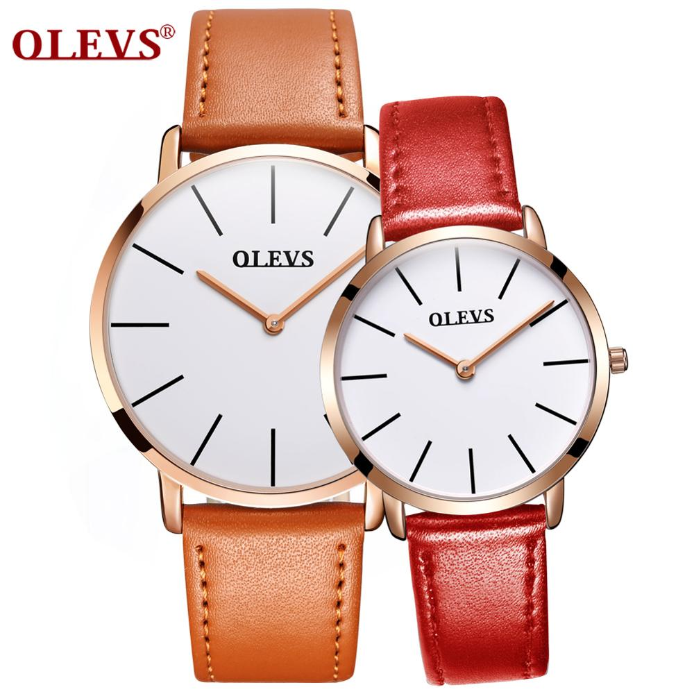 Couple Watch Men and Women mechanical Quartz waterproof Classic Unisex  Steel Lover's Watches leather Clock Gifts whtie Black