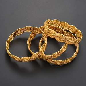 Image 4 - Anniyo 4Pieces Twisted Bracelet for Women Dubai Bangles Ethiopian Bangles African Jewelry Arab Middle East #216506