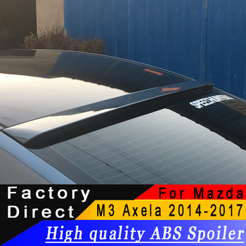 For Mazda 3 M3 Axela 2014 to 2017 roof spoiler High quality ABS material Rear roof spoiler Primer or any color for Mazda 3 Axela