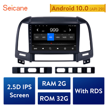 "Автомагнитола Seicane, мультимедийный плеер на Android 9,1, с 9 ""экраном, GPS, для HYUNDAI SANTA FE 2005, 2006, 2007, 2008, 2009, 2010 2012, типоразмер 2DIN"