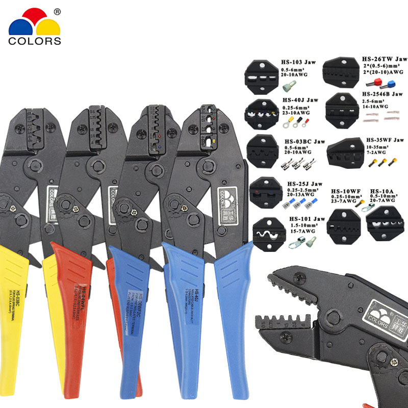 Crimping pliers <font><b>HS</b></font>-03BC <font><b>HS</b></font>-<font><b>40J</b></font> for plug /tube/insulation/no insulation/crimping cap/coaxial cable terminals kit 230mm pliers image