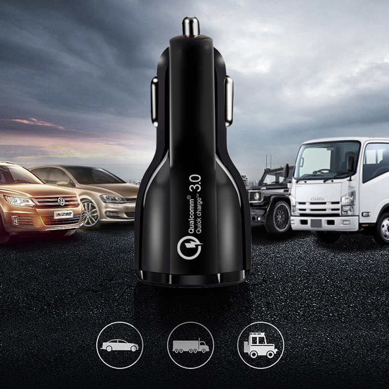 Quick Charge 3.0 USB Car Charger Mobile Phone Charger in a car for iPhone xiaomi Samsung S10 vivo nex 3 Car-charger(China)
