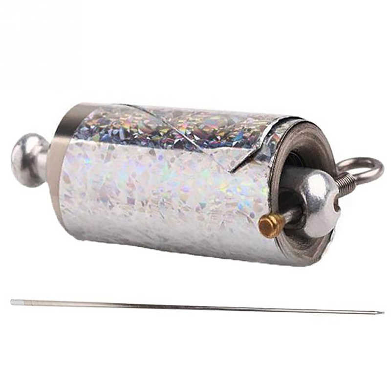 ABKT-110Cm появляющийся тростник серебро из нержавеющей стали Боевые искусства Карманный персонал Волшебный реквизит с волшебной палочкой удлинение